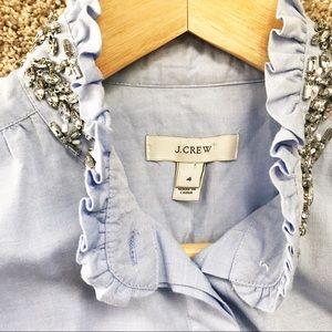 J. Crew Tops - Jcrew Jeweled sleeveless button up
